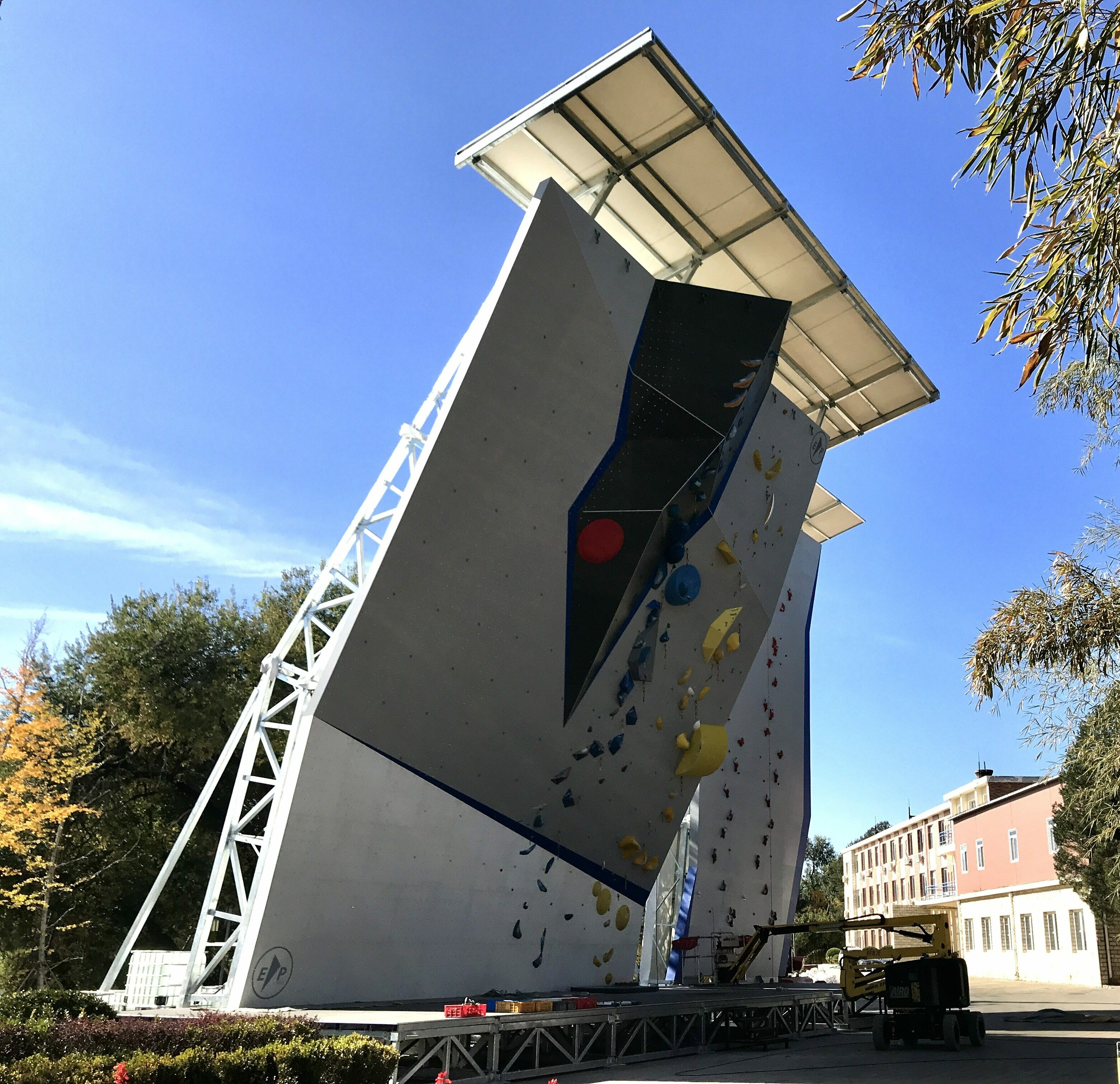 Tokyo Olympics EP Climbing wall