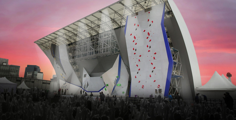 Olympics climbing wall