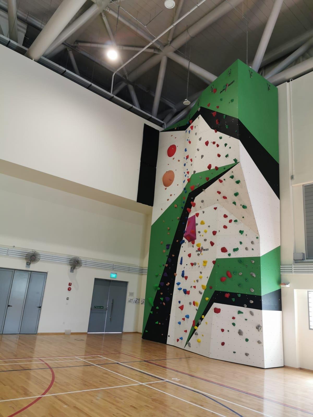 Singapore EP school climbing wall